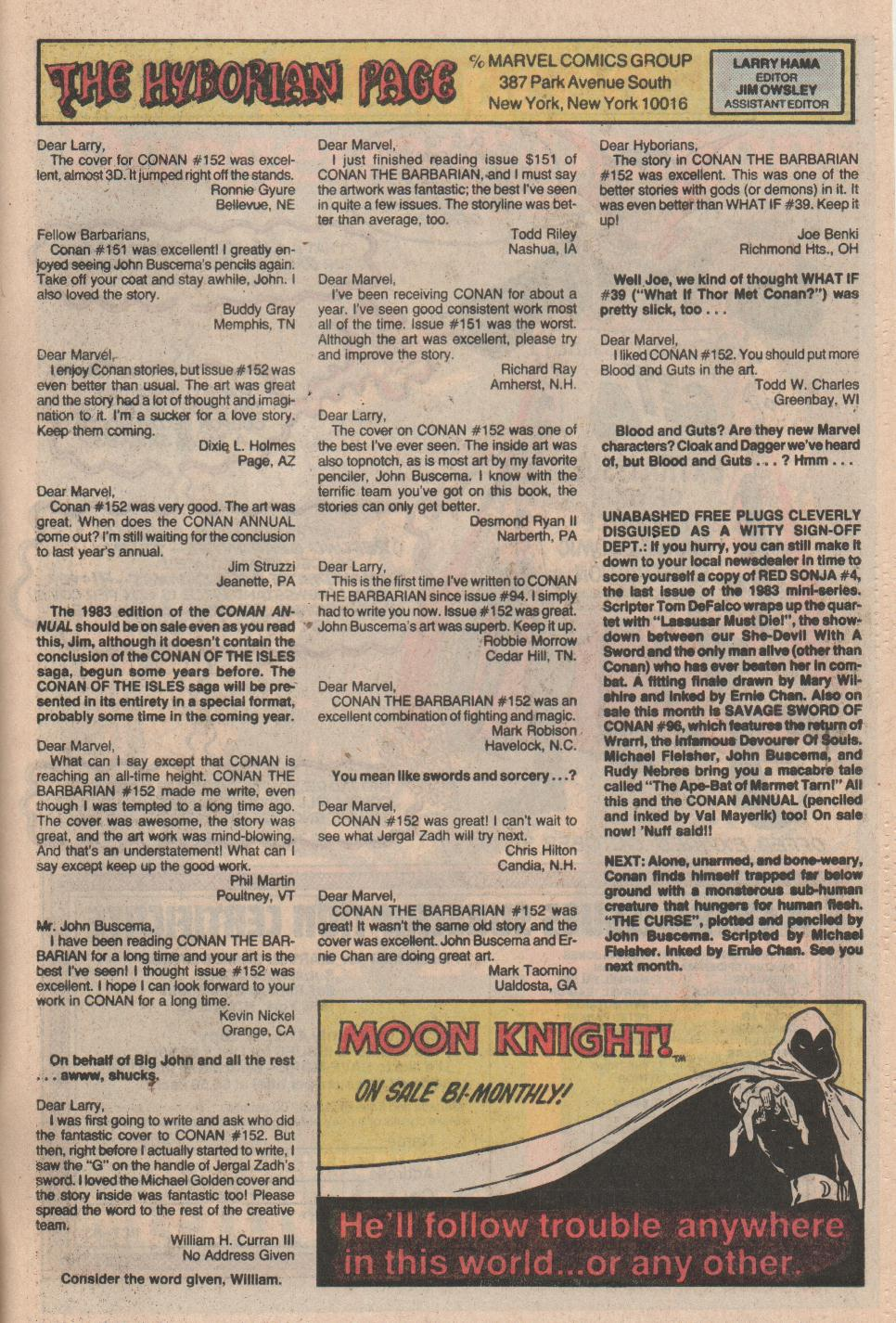 Conan the Barbarian (1970) Issue #155 #167 - English 24