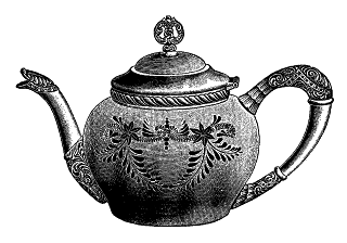 stock teapot illustration