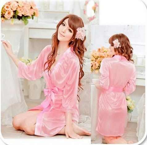 gambar Baju Tidur Mulus SL1219 Soft Pink