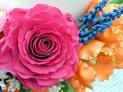 Zuckerrose Ranunkeln Tulpen Blütenpaste Fondant Motivtorte