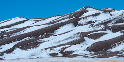Great Sand Dunes with snow