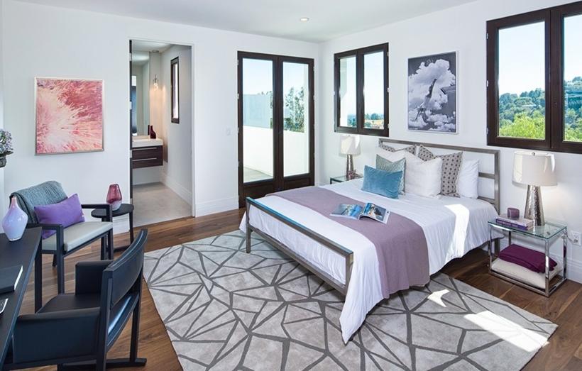 Modern white bedroom interior