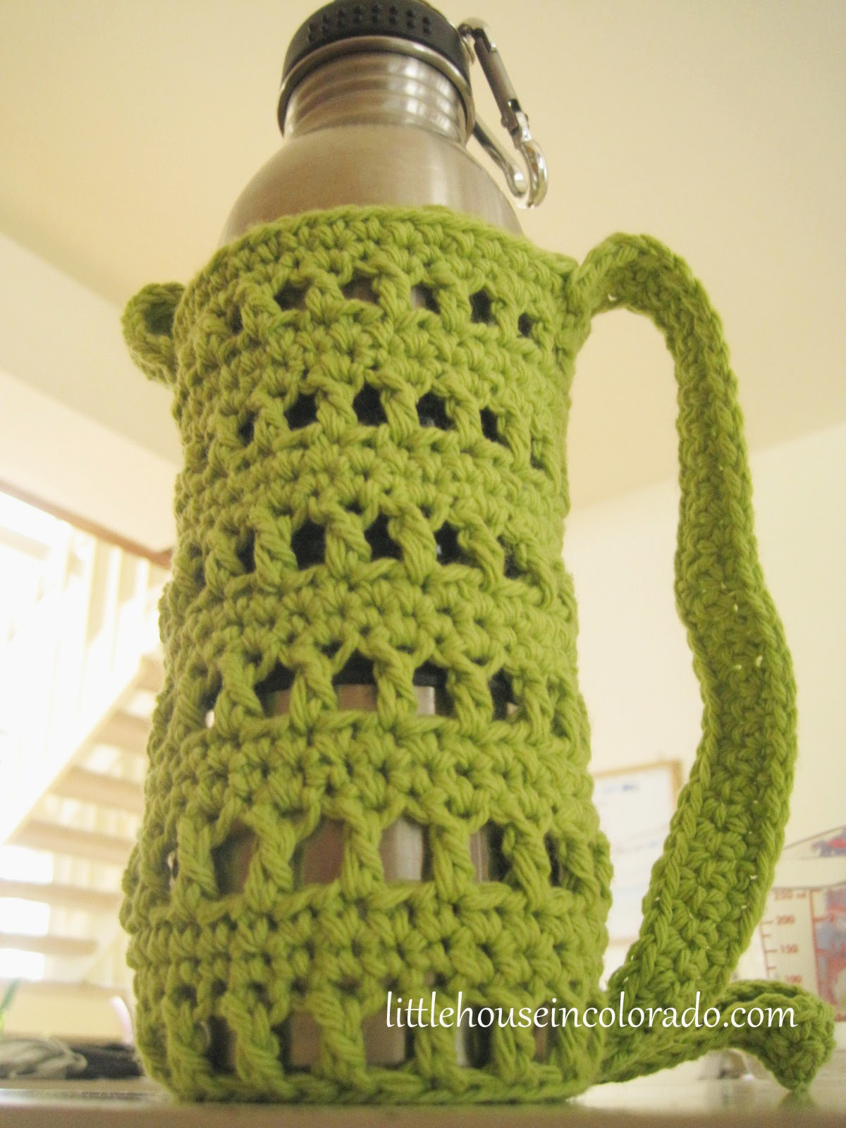 Little house in colorado pattern for crochet water bottle holders dt1010fo