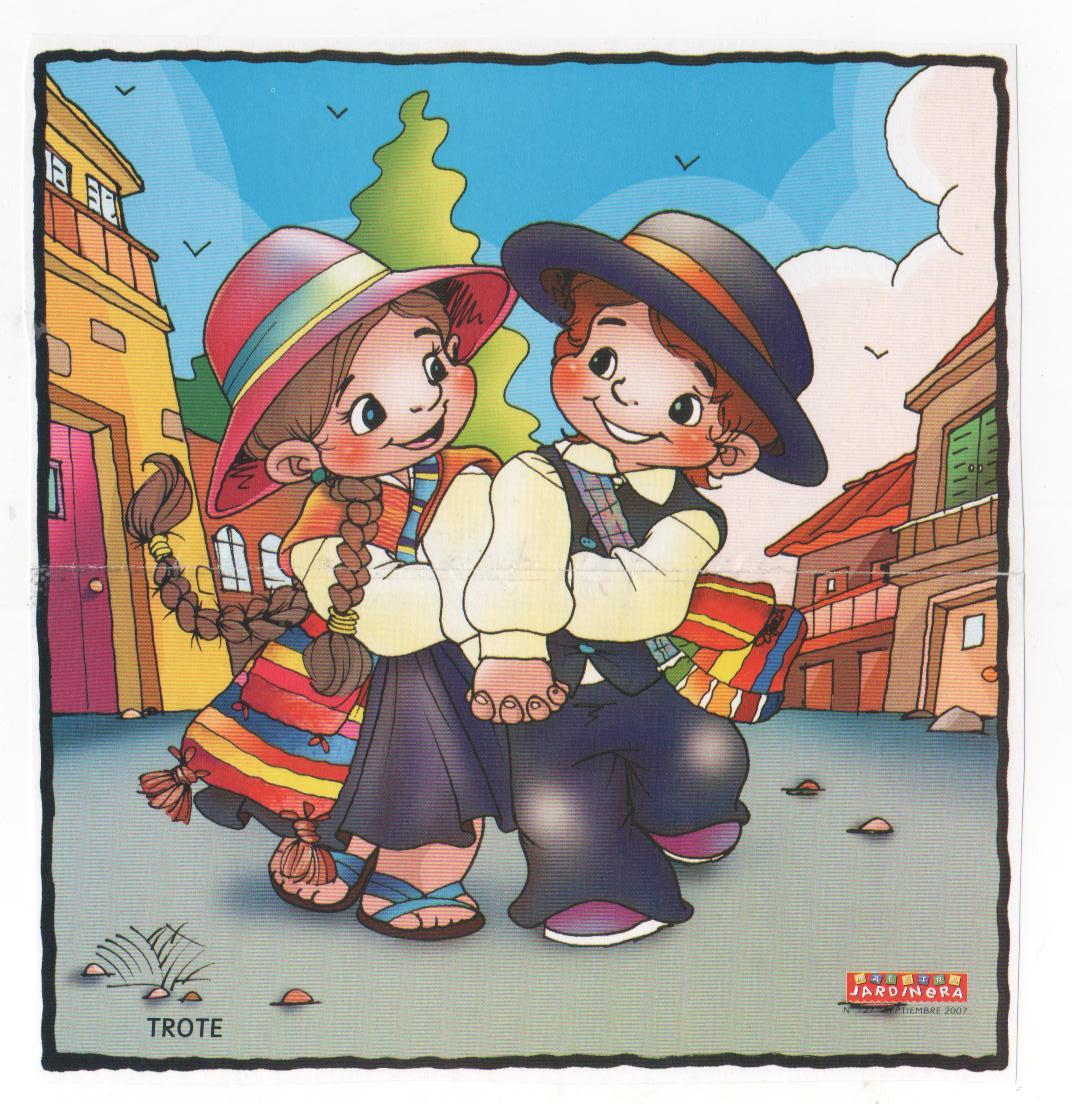 Dibujos bailes chile cueca jota sau sau etc - Baules infantiles ...