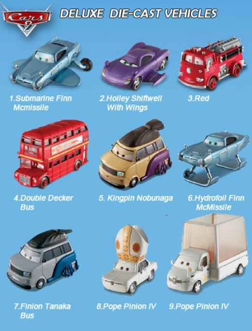 area 2207 cars2 single character die cast vehicles list deluxe