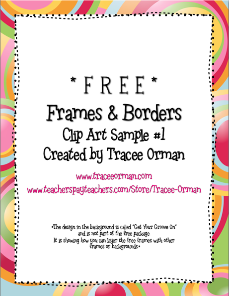 Try out some free frames borders for your worksheets title pages
