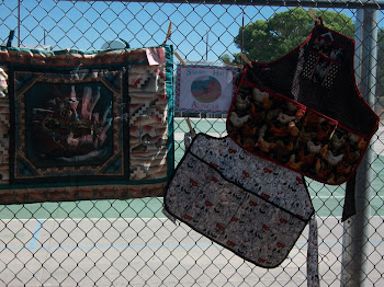 Aprons on fence