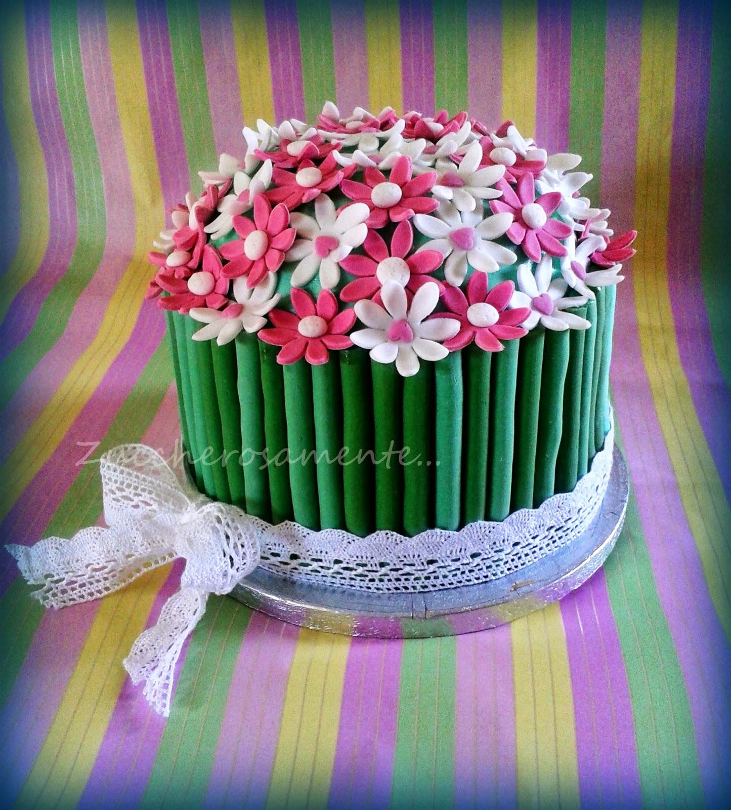 Zuccherosamente torta mazzo di margherite ne avevo gi fatta una simile durante i miei primi esperimenti con il cake designora il risultato decisamente migliore di allora thecheapjerseys Gallery