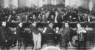 Simultáneas de ajedrez en el Casino de Manresa en 1933