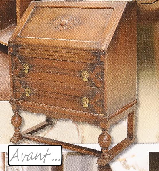 Bricoles et girandoles exemple for Patiner un vieux meuble