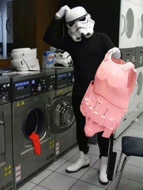 Stormtrooper having a bad laundry day!