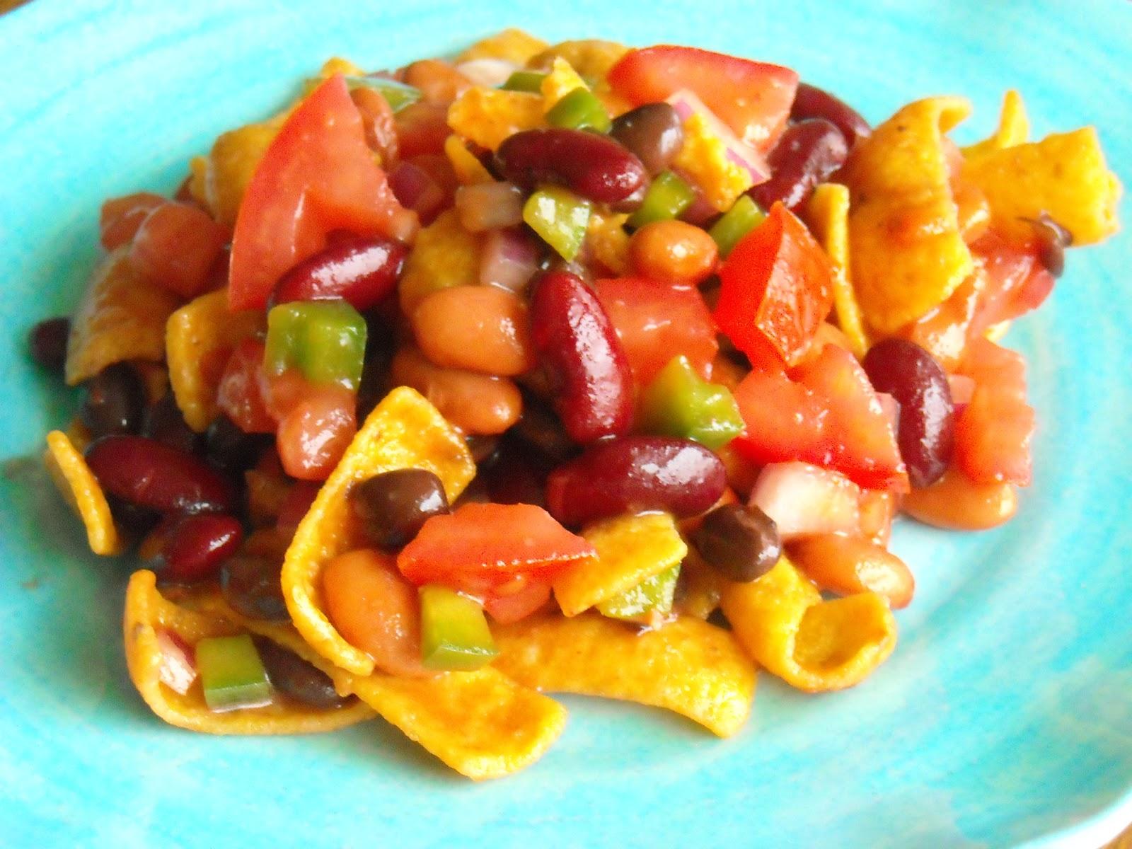 Fritos Chips Recipes Three Bean Frito Chip Salad