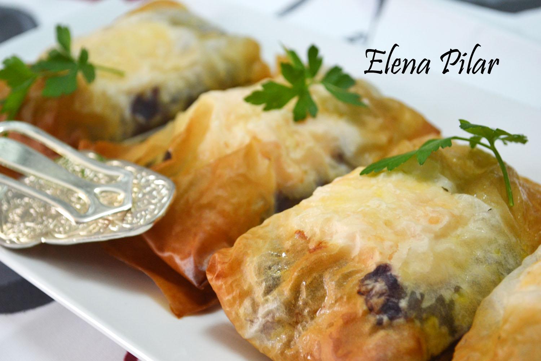 Mi recetario por elena pilar paquetitos de lombarda con - Que hacer con la pasta filo ...