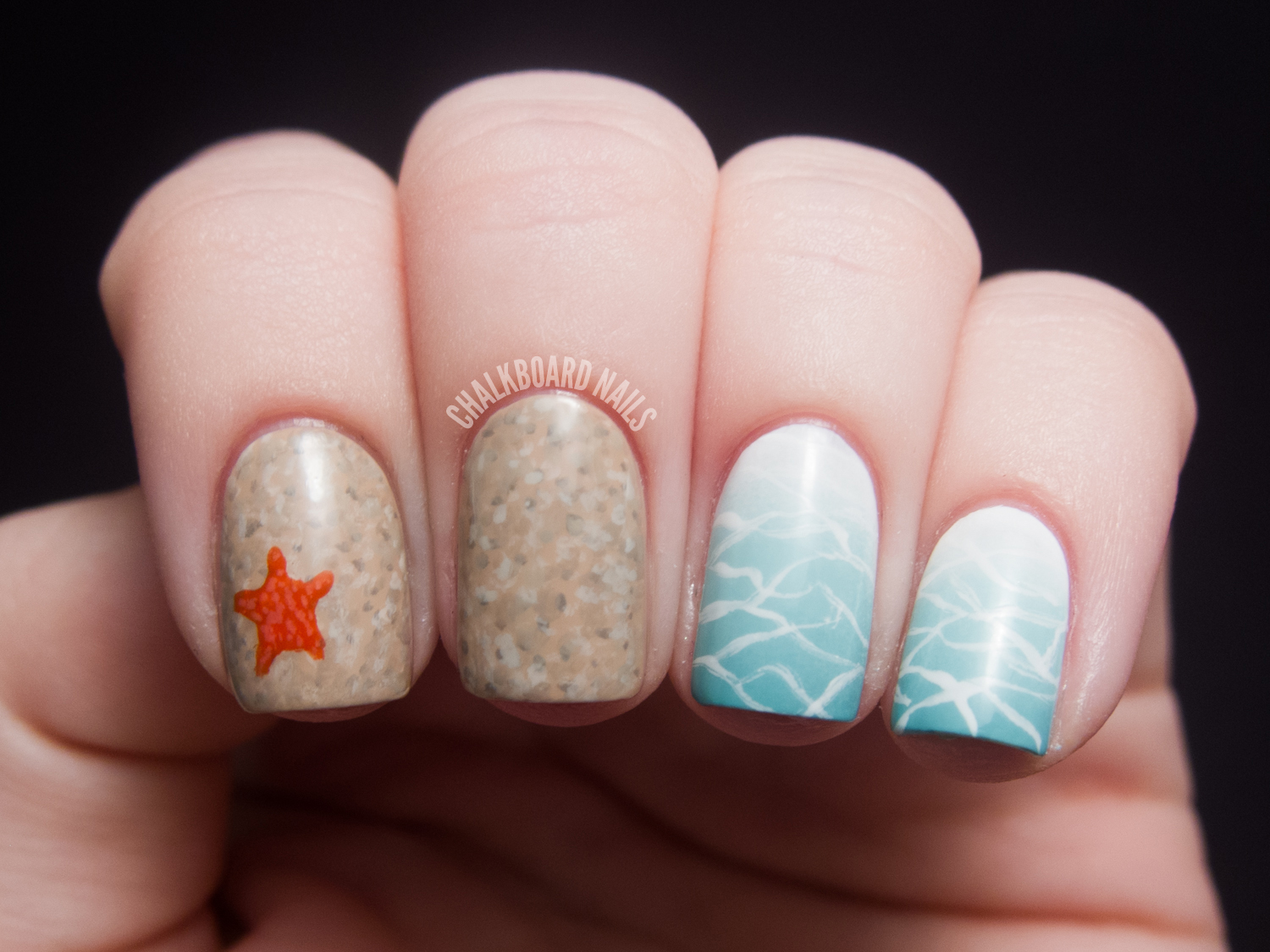 Beauty and the beach chalkboard nails nail art blog beauty and the beach prinsesfo Choice Image
