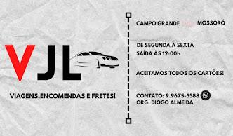 VJL Viagens e encomendas de Campo Grande à Mossoró