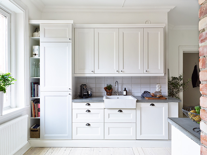 Contrasto in cucina   shabby chic interiors