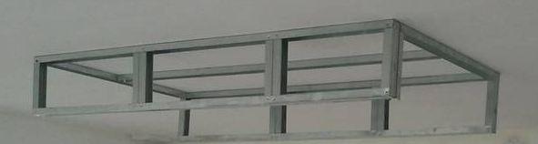 bricolage de l 39 id e la r alisation un caisson d caissement au plafond faux plafond en. Black Bedroom Furniture Sets. Home Design Ideas