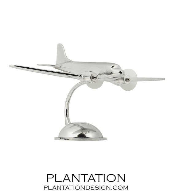 PLANTATION DESIGN AVIATOR PLANE SCULPTURE