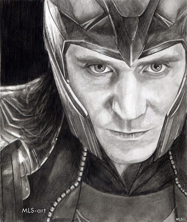 08-Loki-Tom-Hiddleston-Martin-Lynch-Smith-MLS-art-Celebrity-Drawings-www-designstack-co