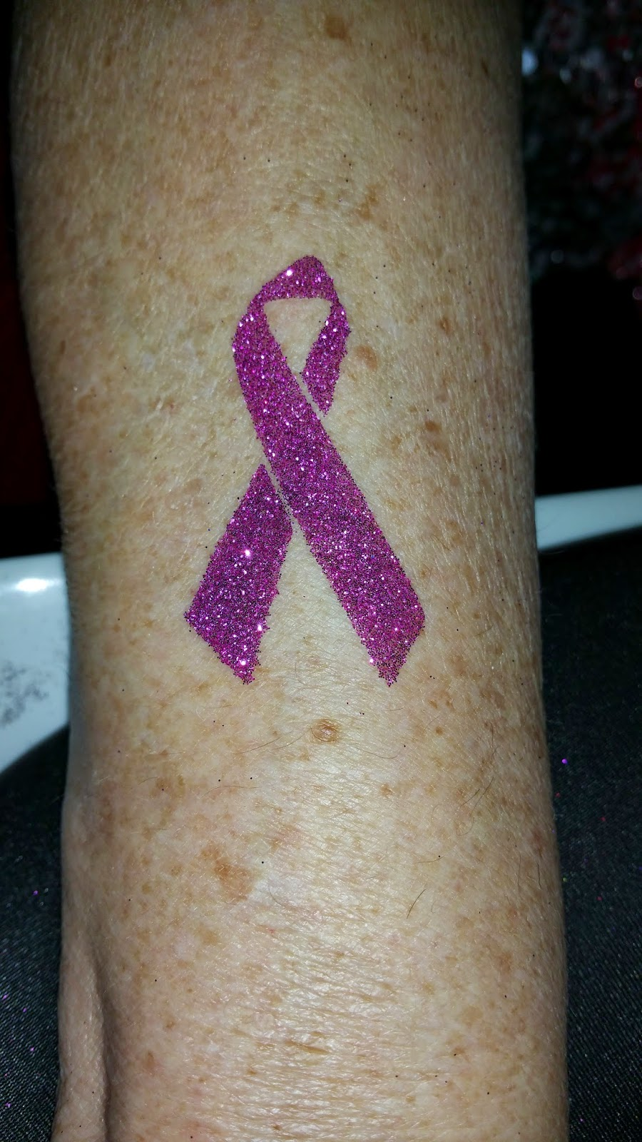 Awareness Ribbon Glitter Tattoo