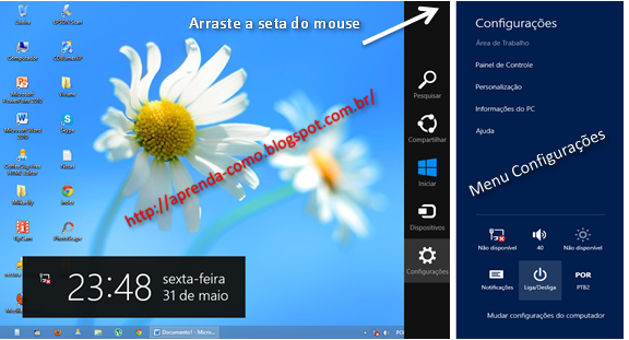 Desligando Windows 8