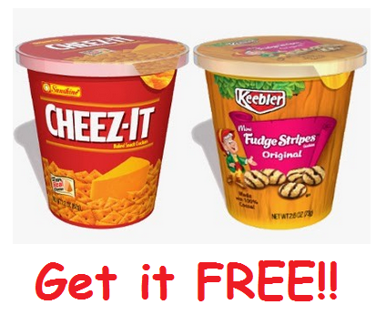 New SavingStar Coupon: FREE Keebler or Cheez It Snack Cup!