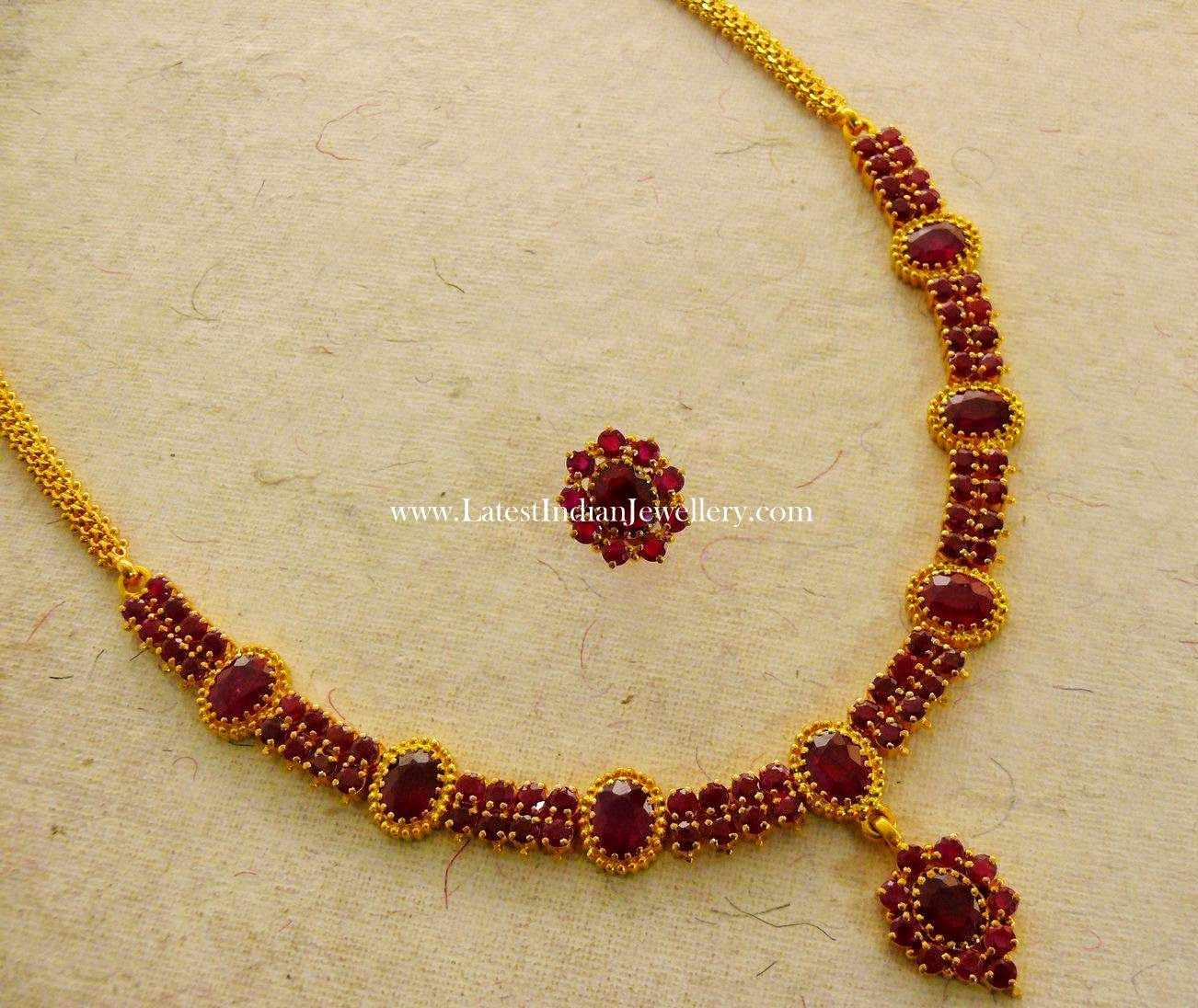 Elegant Traditional Indian Ruby Necklace