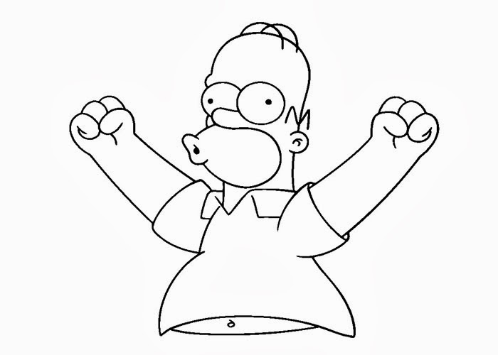 homer simpson coloring pages - Simpsons Halloween Coloring Pages
