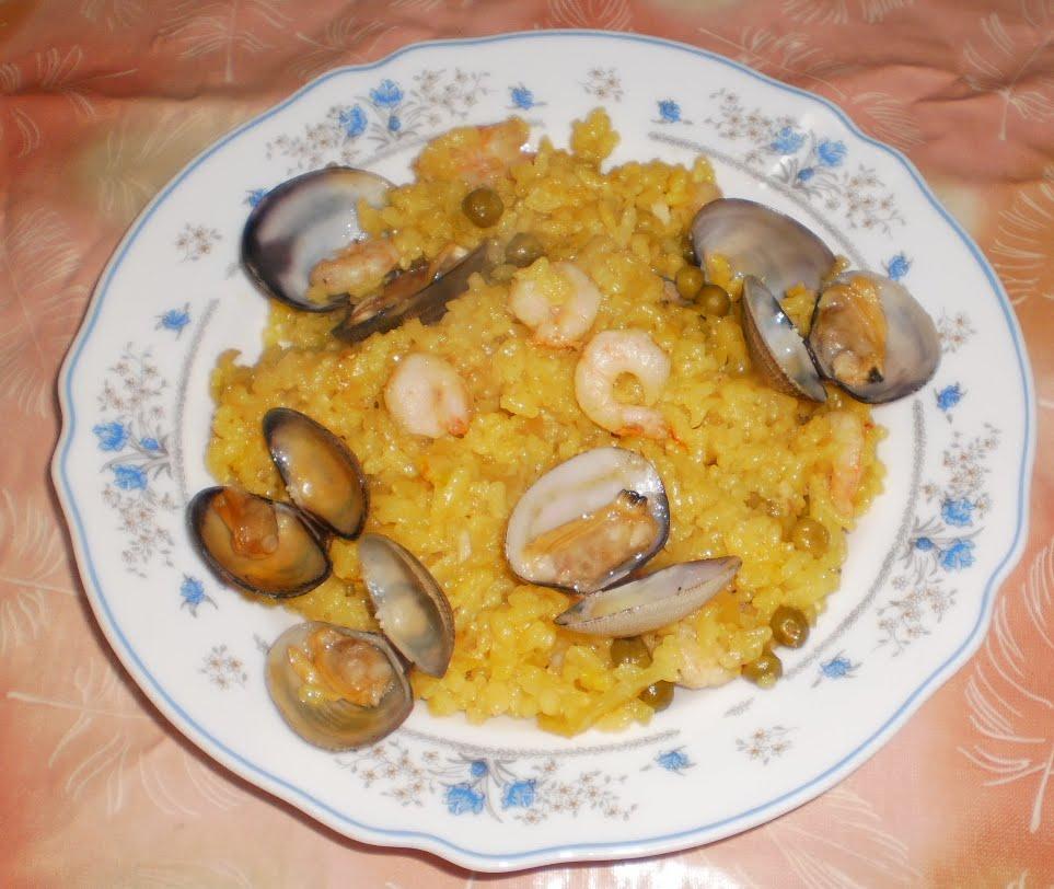 Er mundo de manu arroz con almejas y gambas - Arroz con gambas y almejas ...