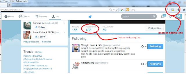 twitter following tab
