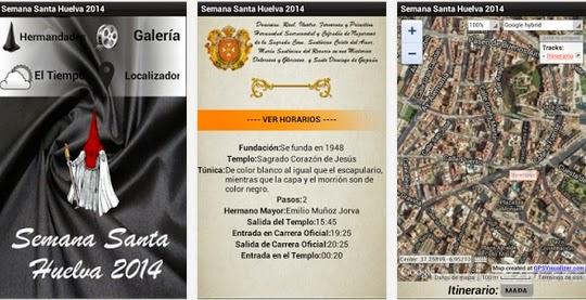 Aplicación Semana Santa Huelva 2014