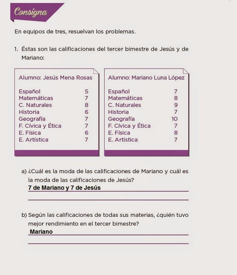 Respuestas Cuando la moda se acomoda - Desafios matemáticos 4to Bloque 5 2014-2015