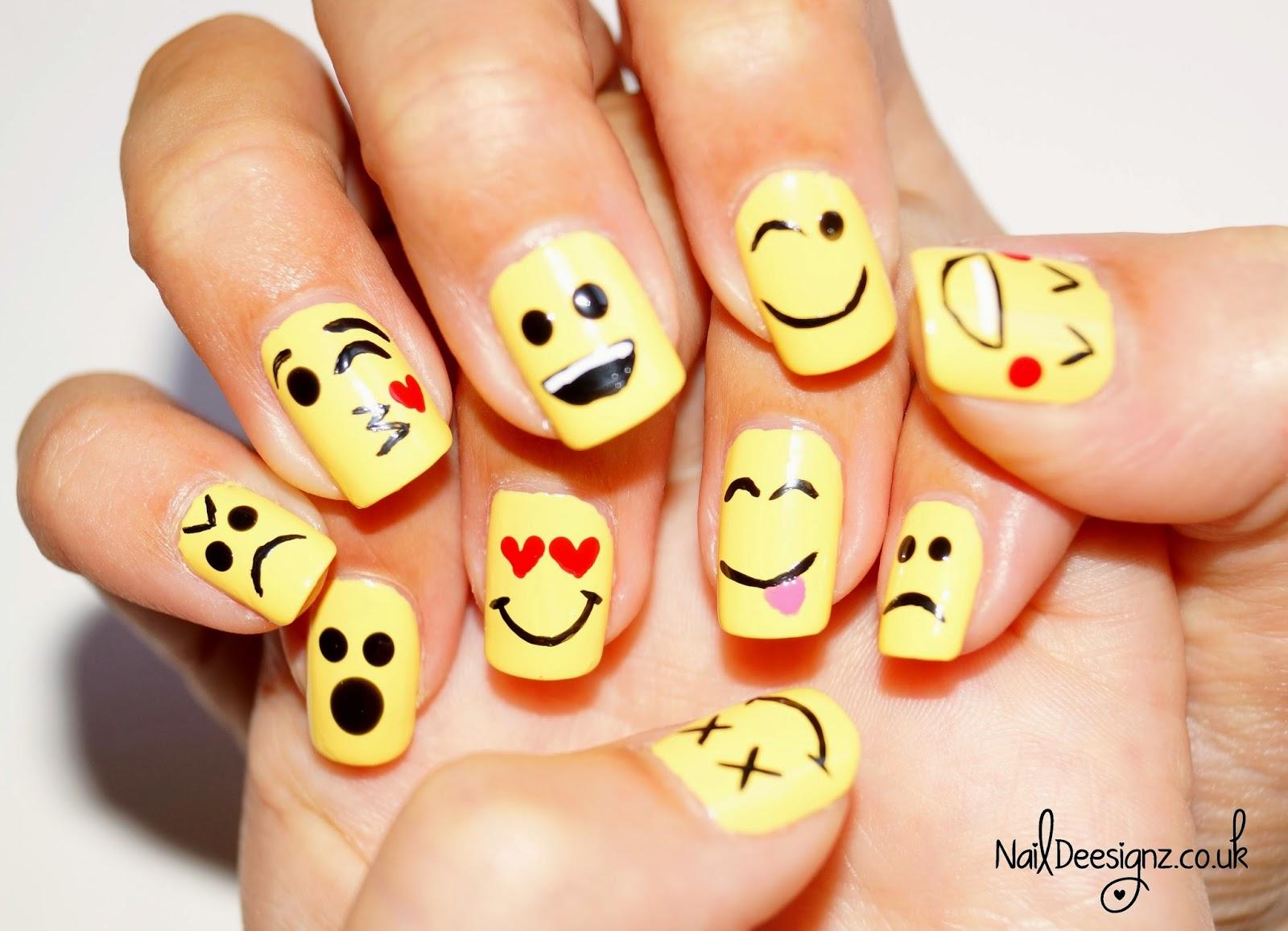 Naildeesignz Emoticon Nail Art