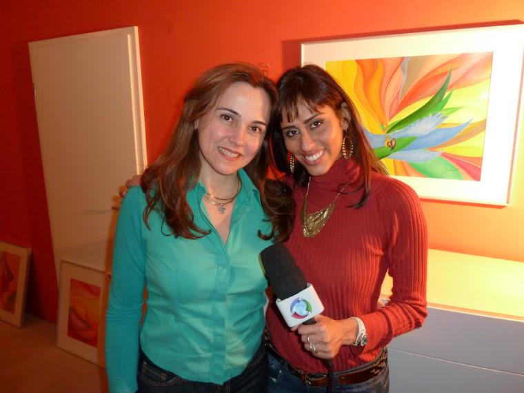Adria Moura und Rafaela Carrijo  von TV Rede Record  ,  Conexão Alemanha.