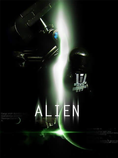 Alien Lego Poster