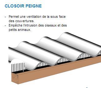 Peigne pour toiture