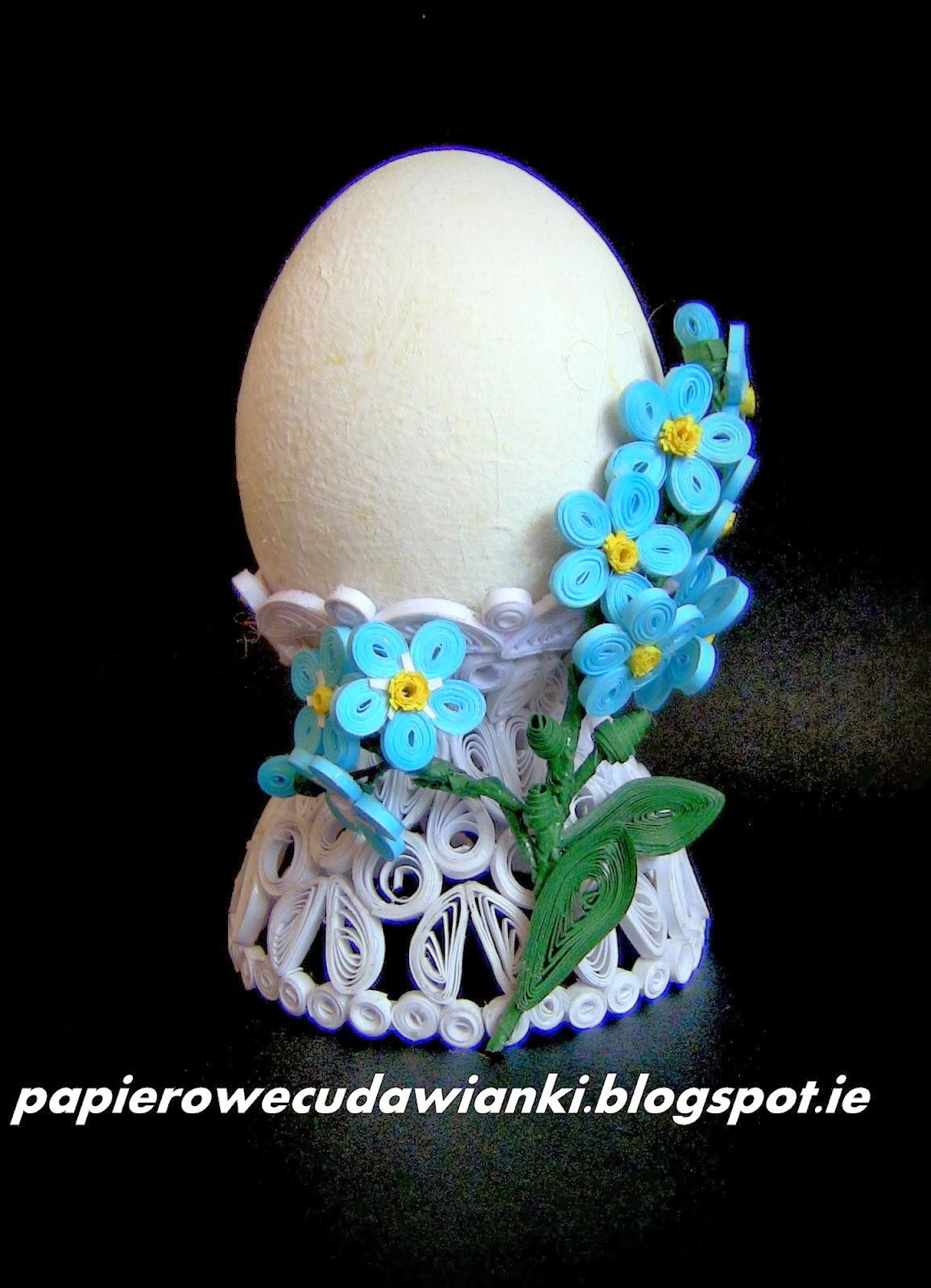 Kurs na quillingową podstawkę pod jajko