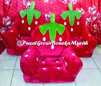 PUSAT GROSIR SOFA STRAWBERRT JUMBO