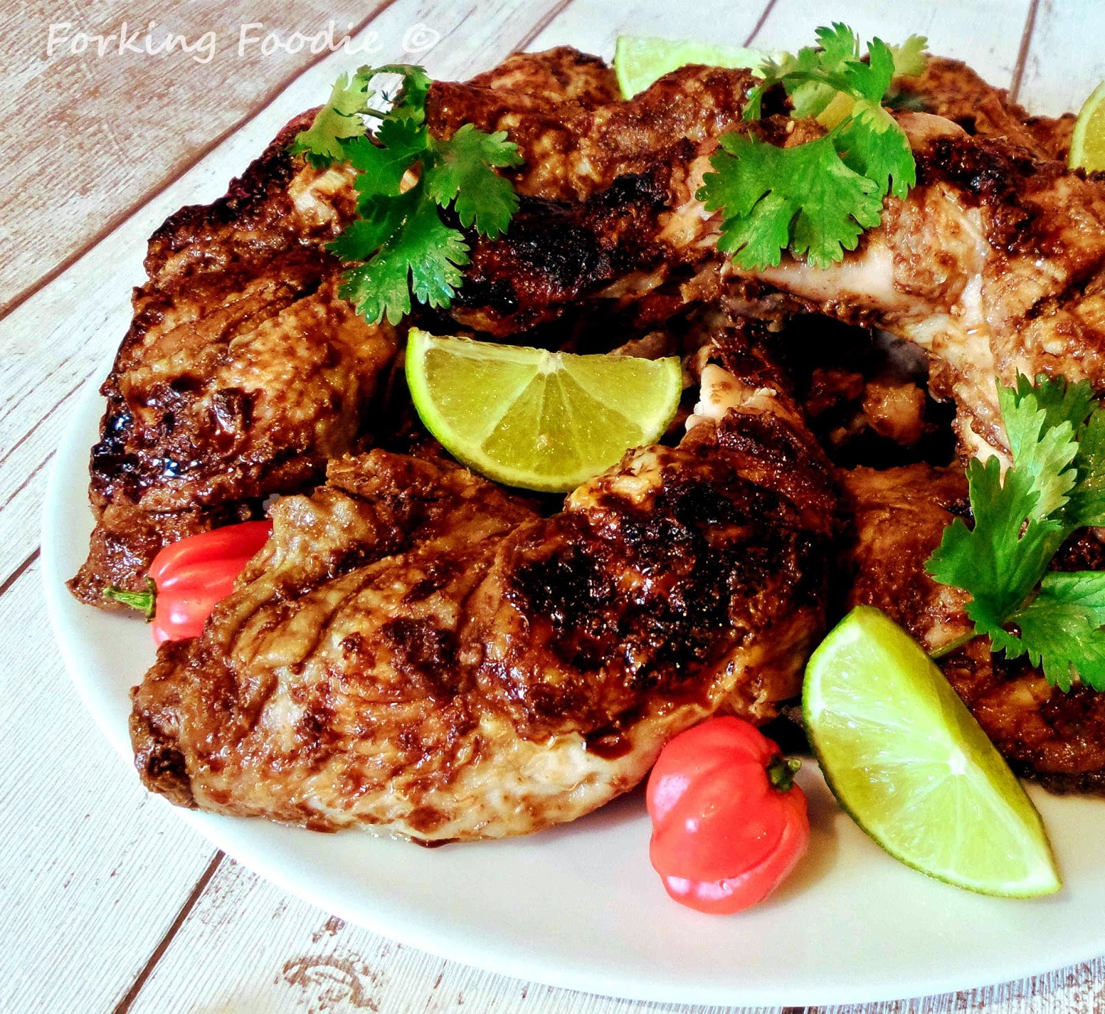 Forking Foodie: Jamaican Jerk Chicken (includes Thermomix ...