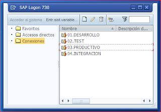 Ventana SAP Logon