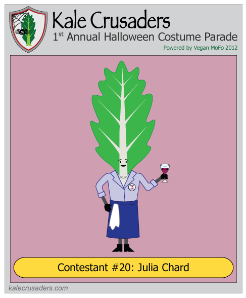Contestant #20: Julia Chard, Julia Child, Kale Crusaders 1st Annual Halloween Costume Parade, Powered by Vegan MoFo 2012