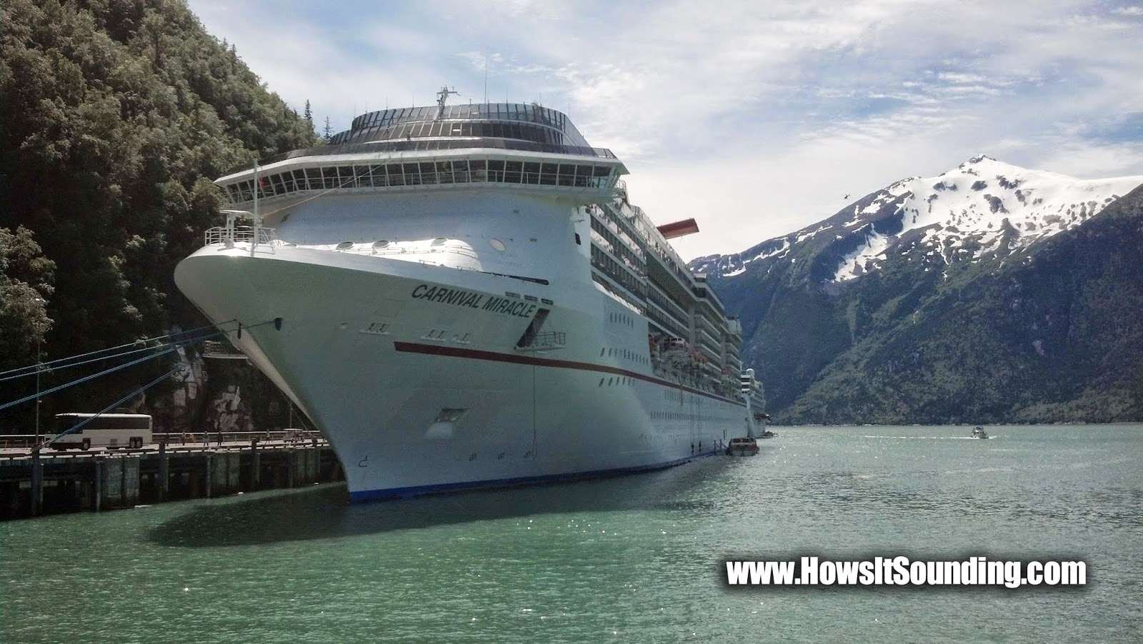 Carnival cruise lines miracle ship sailing sound tech Skagway Juneau Alaska victoria british Colombia Canada dylan benson tracy arms fjord