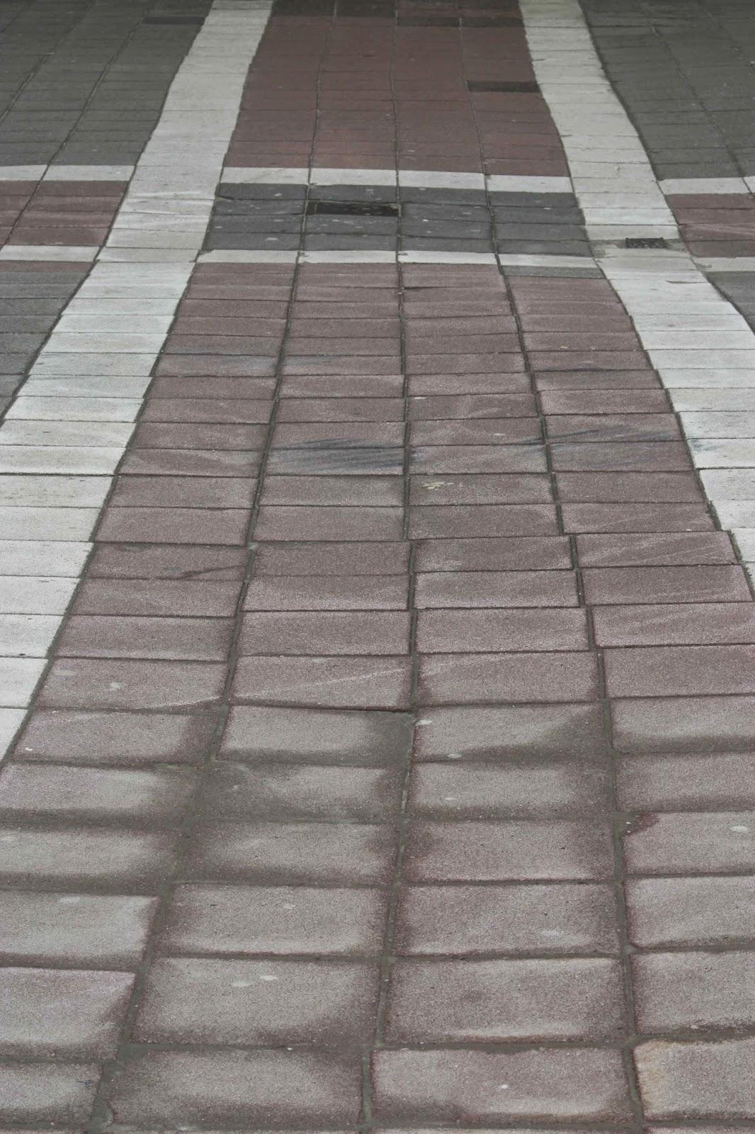 sidewalk with pattern