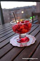 copa con fresas