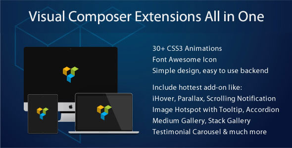 Free download latest version of Visual Composer Extensions V3.4.4 All in One
