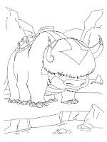 Mewarnai Kartun Appa Si Banteng Terbang Milik Avatar