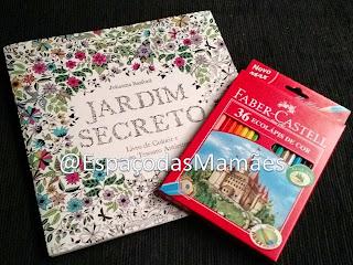 Jardim Secreto e Lápis de Cor Faber Castell
