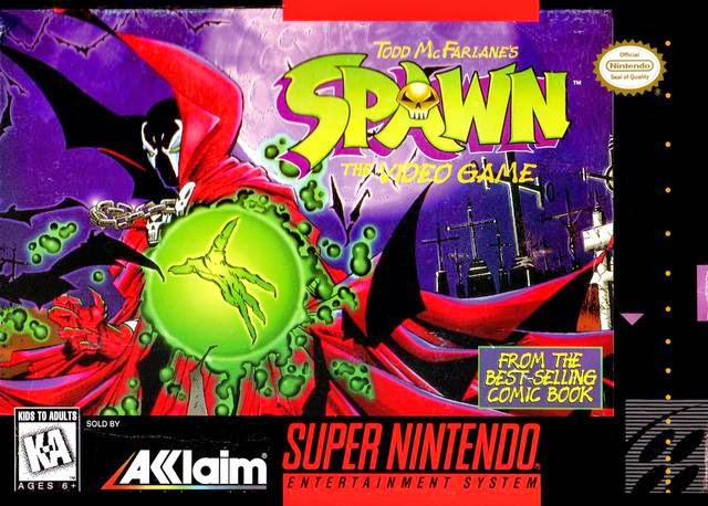 spawn snes rom cover game