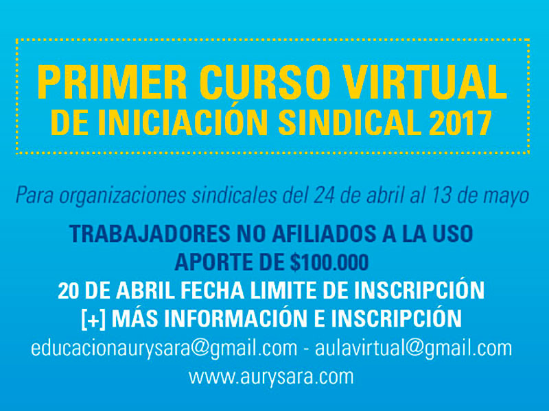 Curso de Iniciación Sindical Virtual 2017