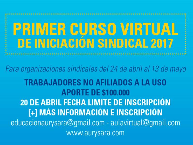 Curso de Iniciación Sindical Virtual 2017